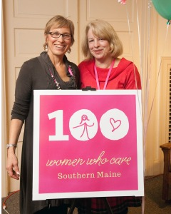 100+ WWC Founder Deb Bergeron and Simple Gifts Chair Mary Irace